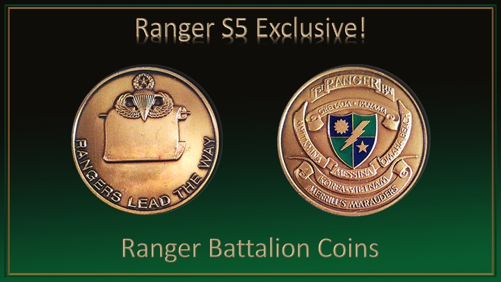 1st ranger battalion coin