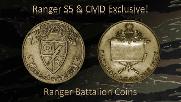 1st Ranger Bn Old Scroll Coin