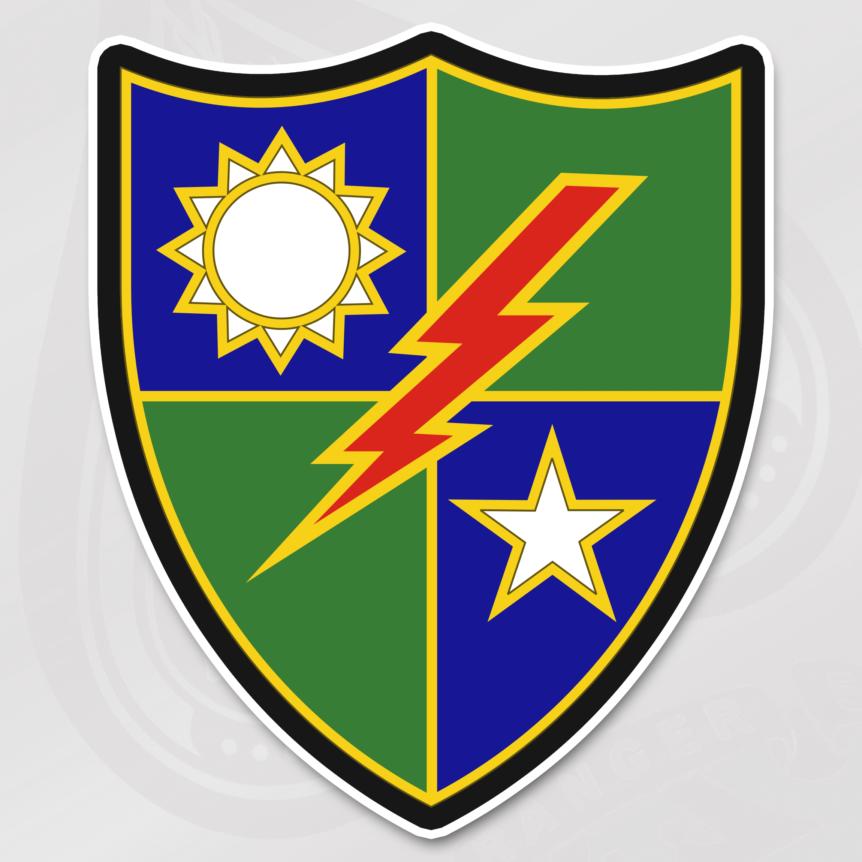 75th Ranger Regiment Distinguished Unit Insignia sticker