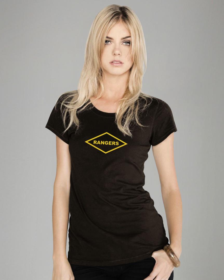 Misses Ranger Shor Sleeve Tee- Black