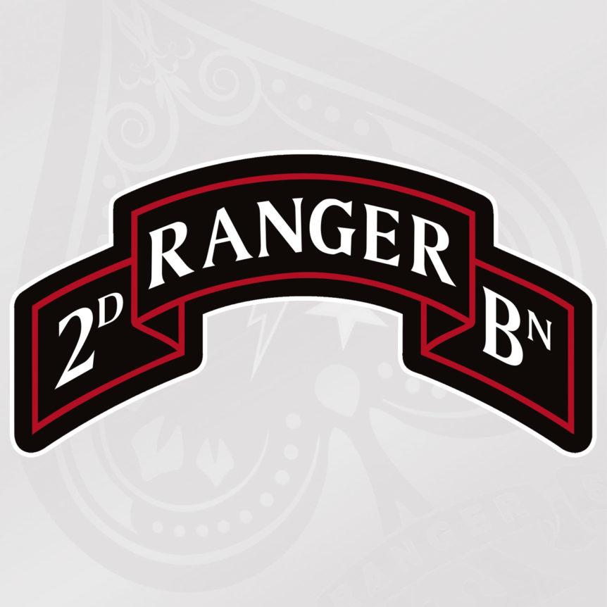 Ranger 2nd Battalion Scroll- Spade 10