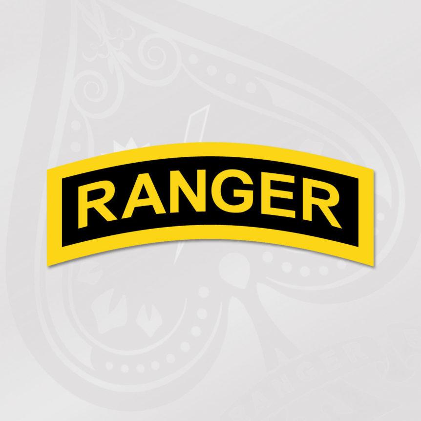 Ranger Tab Sticker- Spade 10